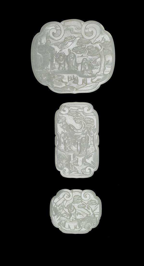 Set of Jade Ruyi Tops, 18th - 19th Century