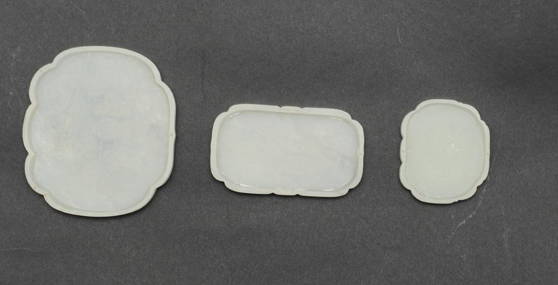 Set of Jade Ruyi Tops, 18th - 19th Century - 2