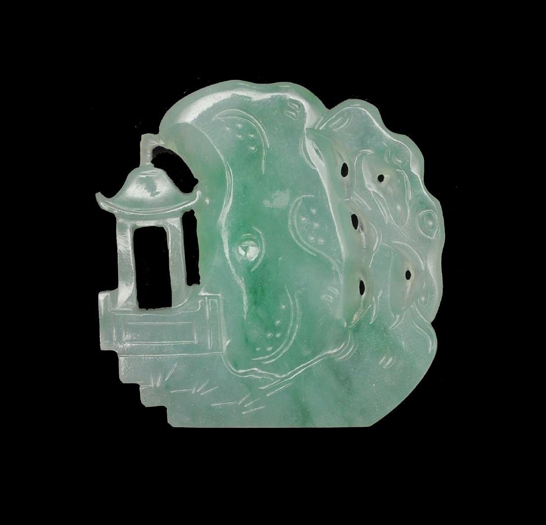 Carved Jadeite Landscape, 18th - 19th Century