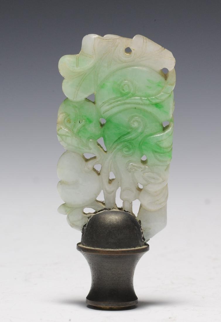 Jadeite Finial, 19th Century - 3