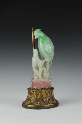 Jadeite Carving of Birds, Late Qing Dynasty