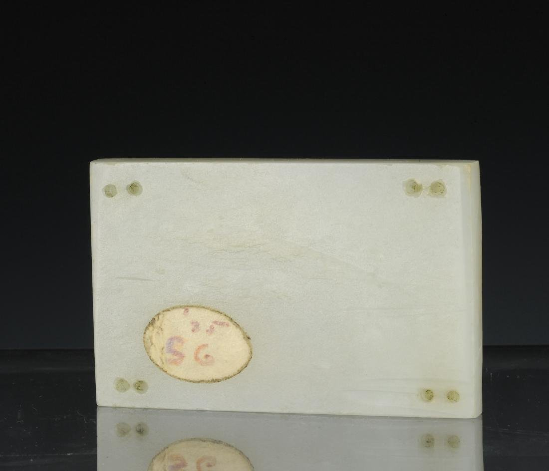 White Jade Plaque Carved with Cranes, Ming Dynasty - 2