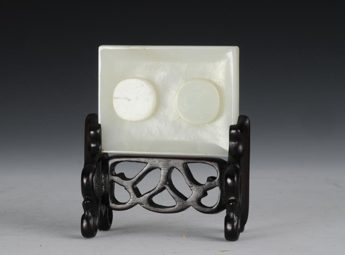 White Jade Belt Buckle with Stand, Ming Dynasty - 2