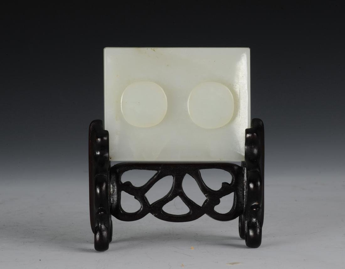 White Jade Belt Buckle with Stand, Ming Dynasty - 3