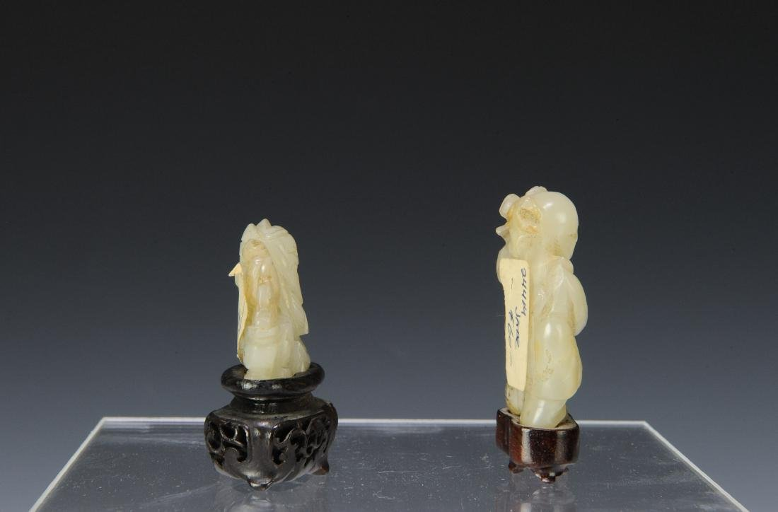 Two Carved Jade Figures, 18th - 19th Century - 2