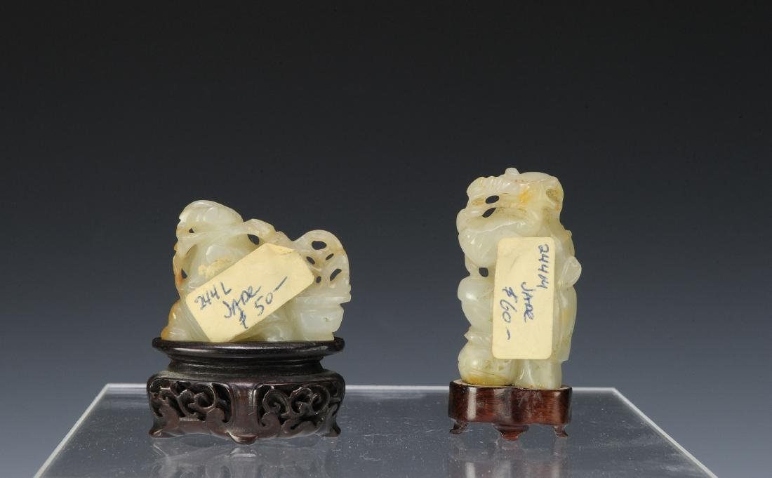 Two Carved Jade Figures, 18th - 19th Century - 3