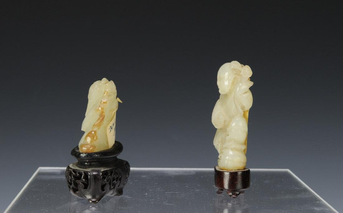 Two Carved Jade Figures, 18th - 19th Century - 4