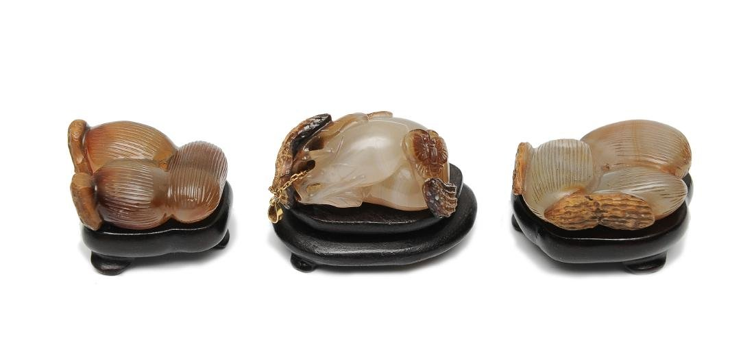 Trio of Agate Carvings, 18th - 19th Century