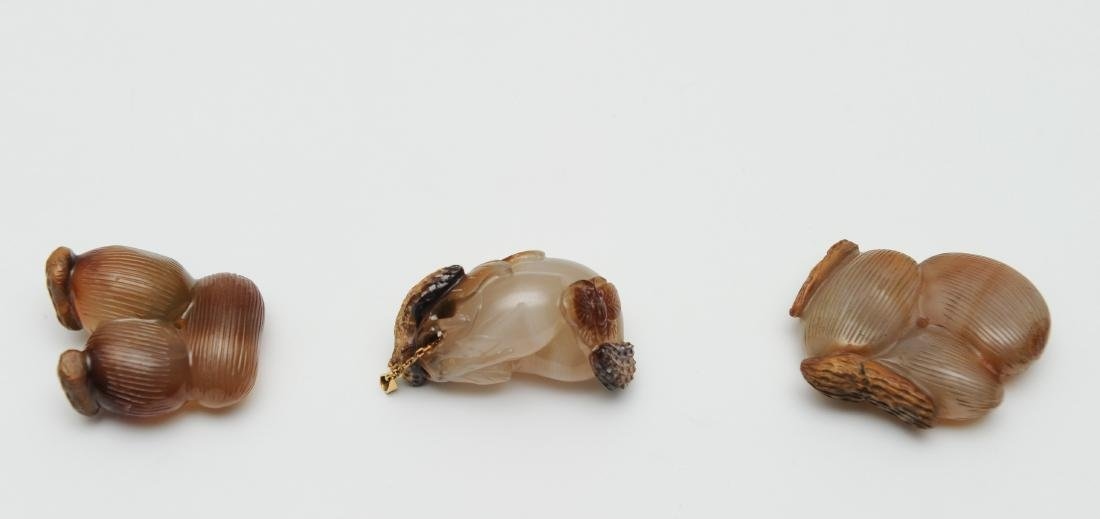 Trio of Agate Carvings, 18th - 19th Century - 2