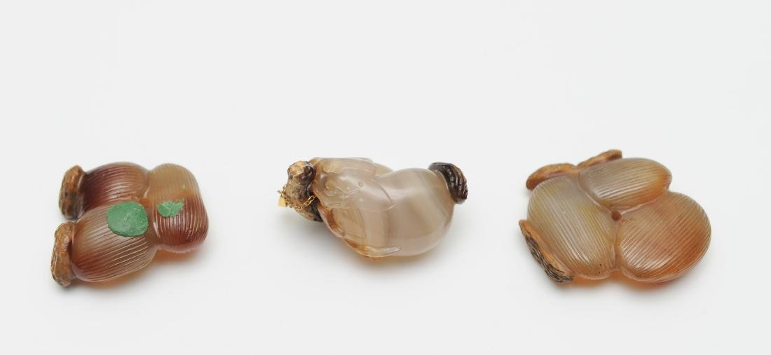 Trio of Agate Carvings, 18th - 19th Century - 3