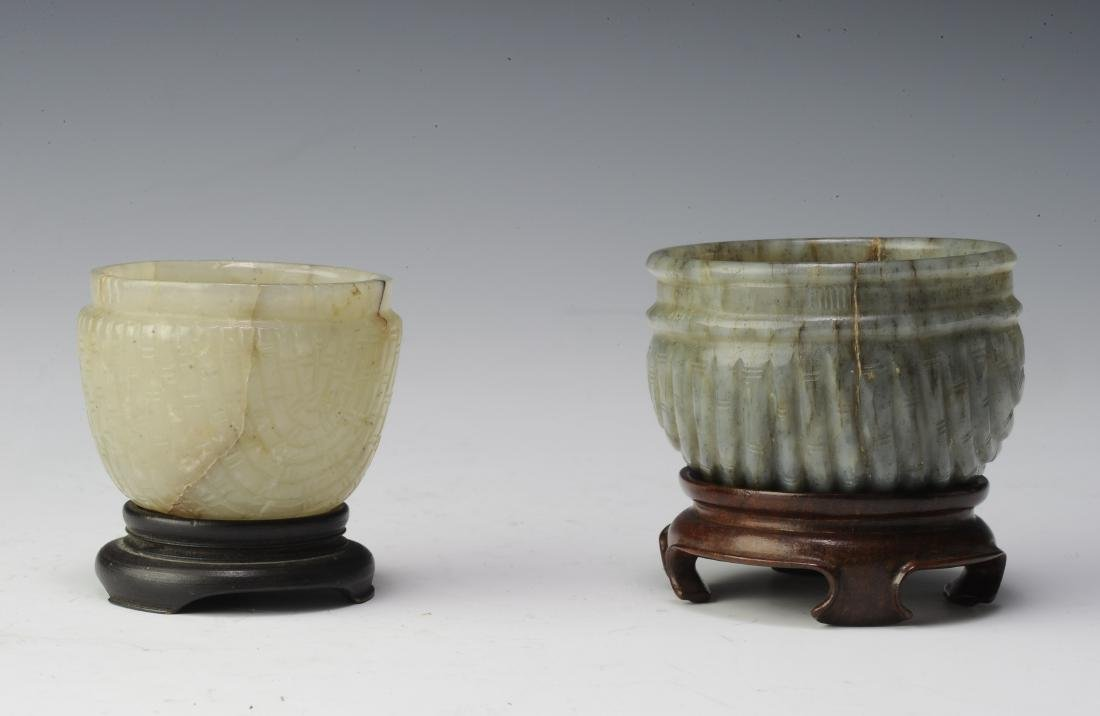 Two Jade Brush Washers, Ming Dynasty - 3