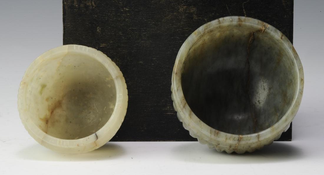 Two Jade Brush Washers, Ming Dynasty - 6