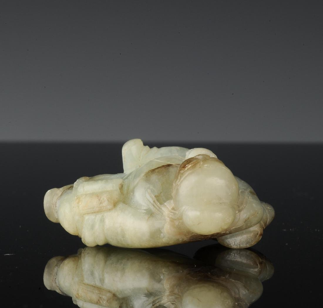 Jade Drunk Li Po Carving, Ming Dynasty - 6