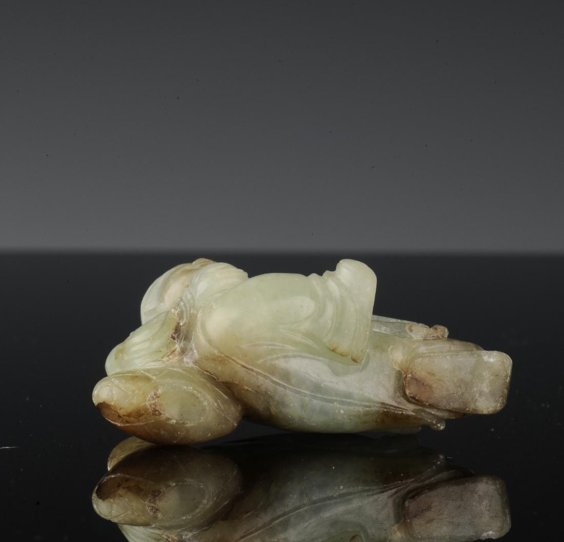 Jade Drunk Li Po Carving, Ming Dynasty - 7