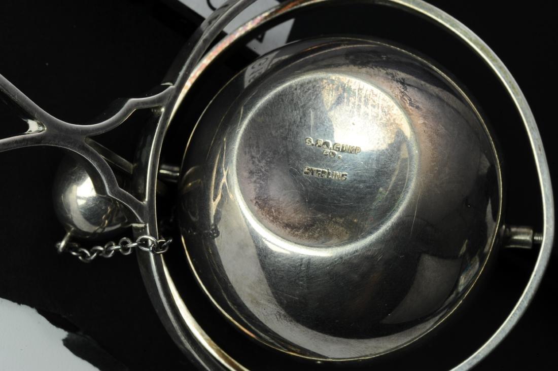 Silver Lighter & Jadeite Dragon Hook Handle 19th C - 8