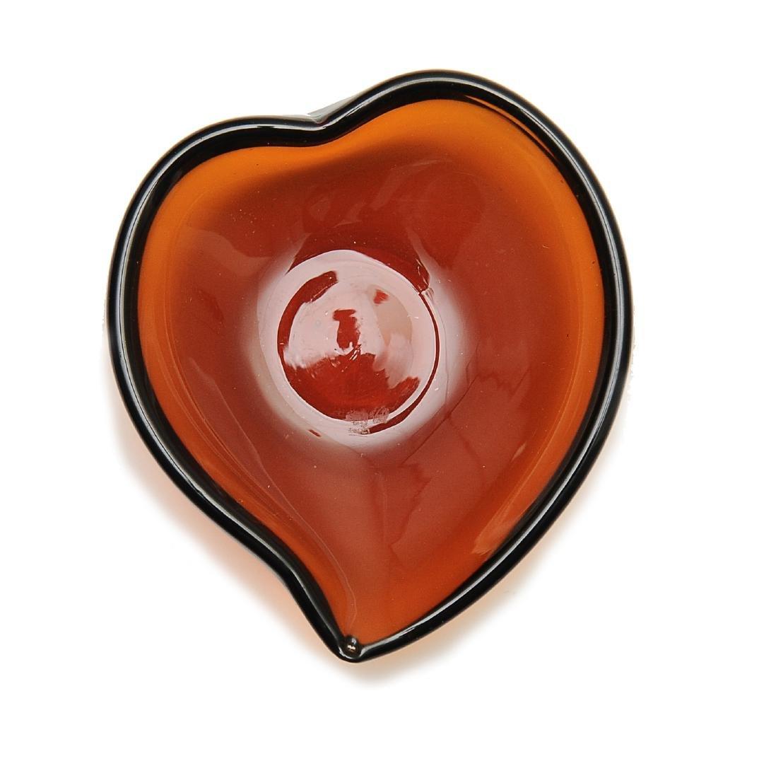 Peach Shaped Peking Glass Cup, 18th - 19th Century