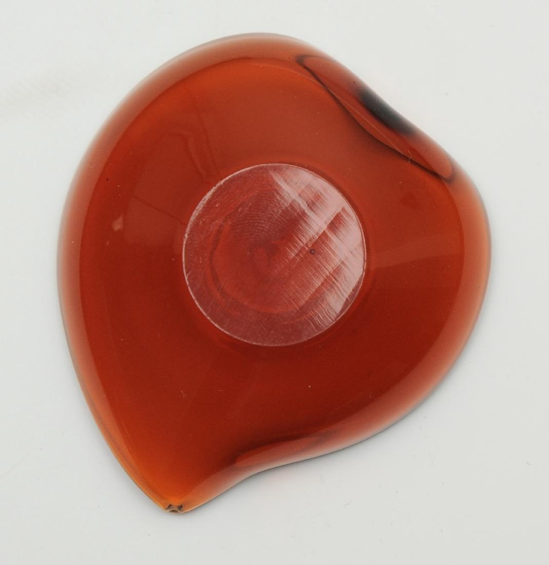 Peach Shaped Peking Glass Cup, 18th - 19th Century - 3