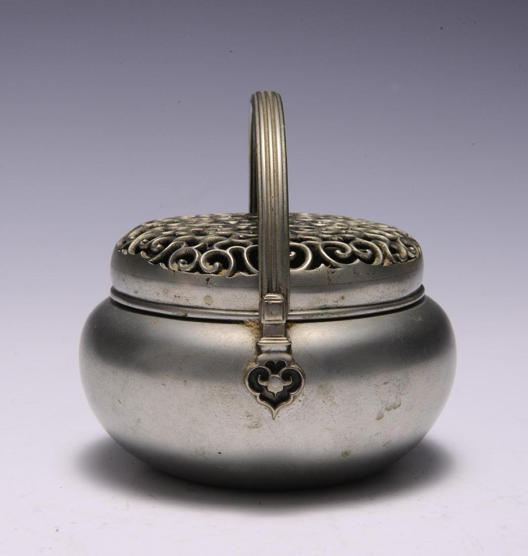 Metal Hand Warmer with Ruyi Pattern, 19th Century - 2