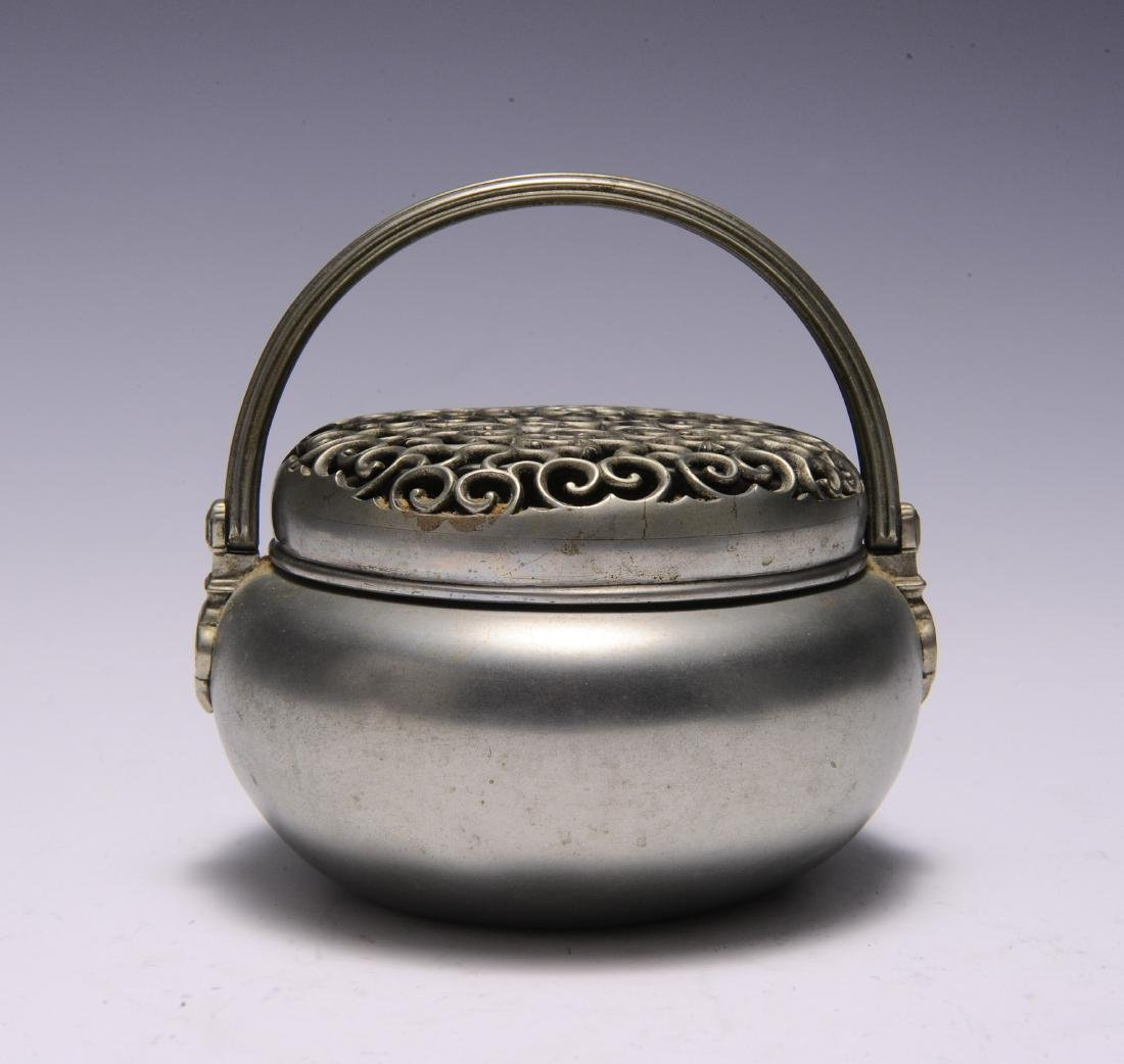 Metal Hand Warmer with Ruyi Pattern, 19th Century - 3