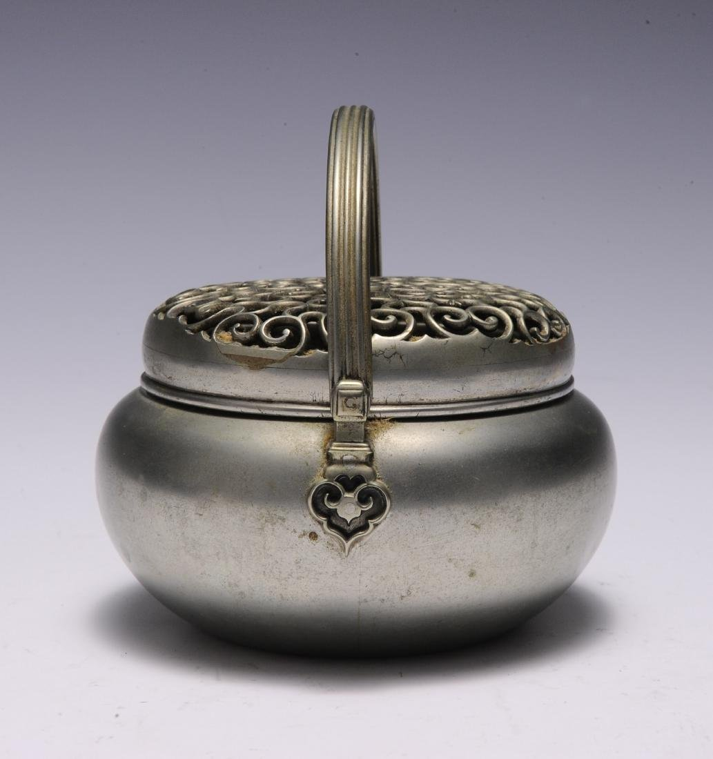 Metal Hand Warmer with Ruyi Pattern, 19th Century - 4