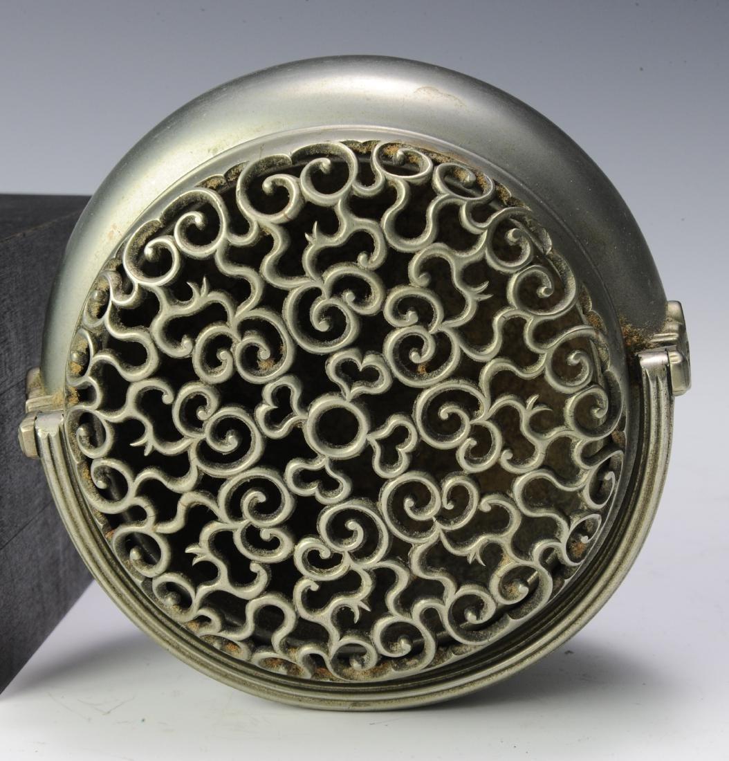 Metal Hand Warmer with Ruyi Pattern, 19th Century - 5