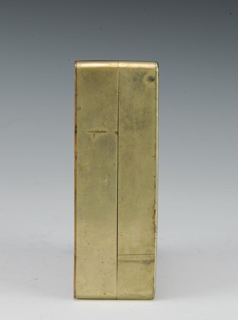 Brass & Copper Ink Box for Qiu Zhiren, Republic Period - 4