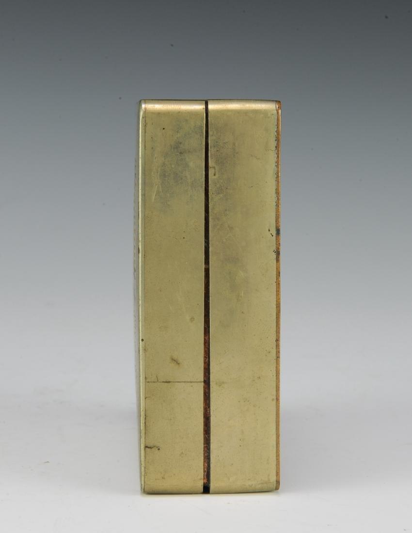 Brass & Copper Ink Box for Qiu Zhiren, Republic Period - 5