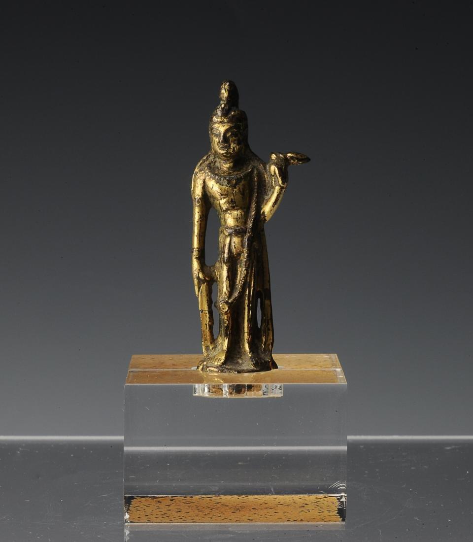 Small Gilt Bronze Buddha, Tang Dynasty or Earlier