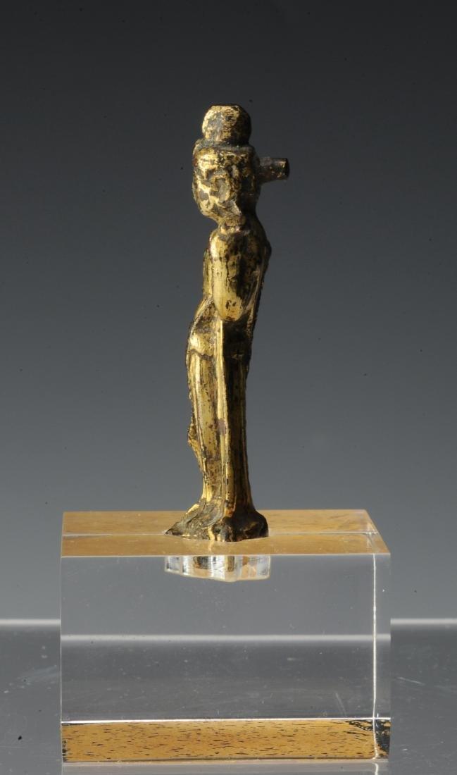 Small Gilt Bronze Buddha, Tang Dynasty or Earlier - 4