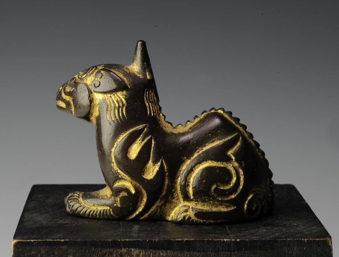 Gilt Bronze Qilin Paperweight, Ming Dynasty - 3
