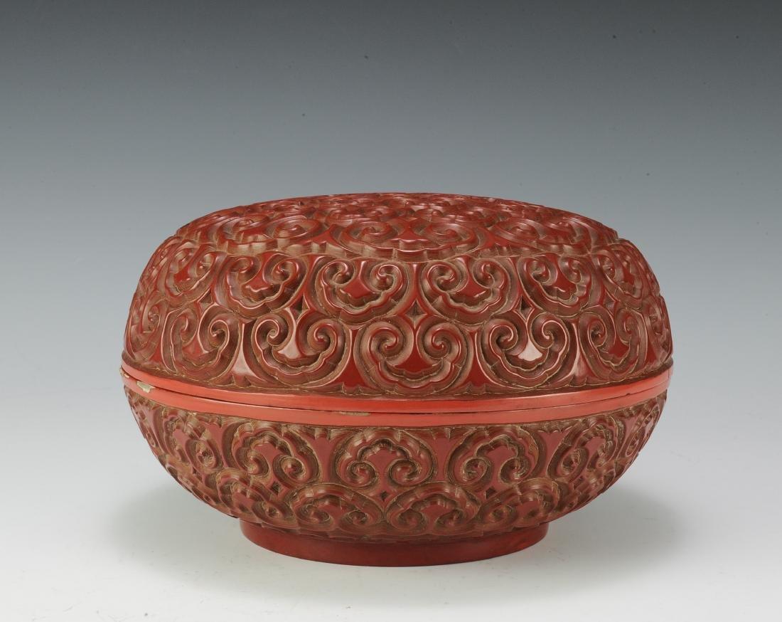 Cinnabar Box, 18th Century - 2