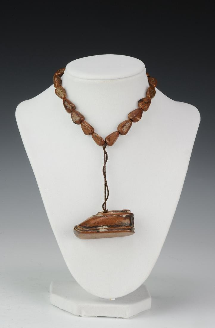 Pine Nut & Boxwood Poem Necklace, 18th - 19th Century