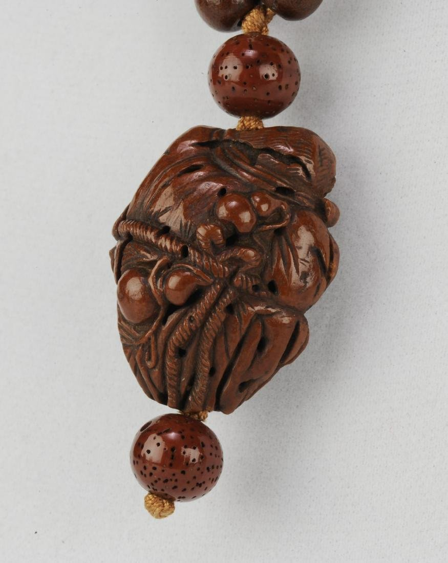 Carved Pine Nut Necklace, 18th - 19th Century - 2