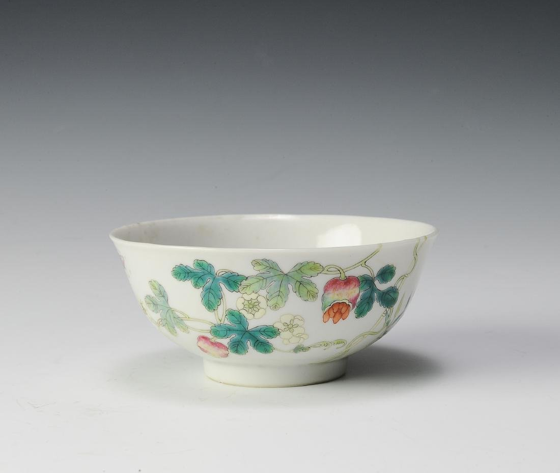 Famille Rose Bowl, Hong Xian Mark, Republic Period