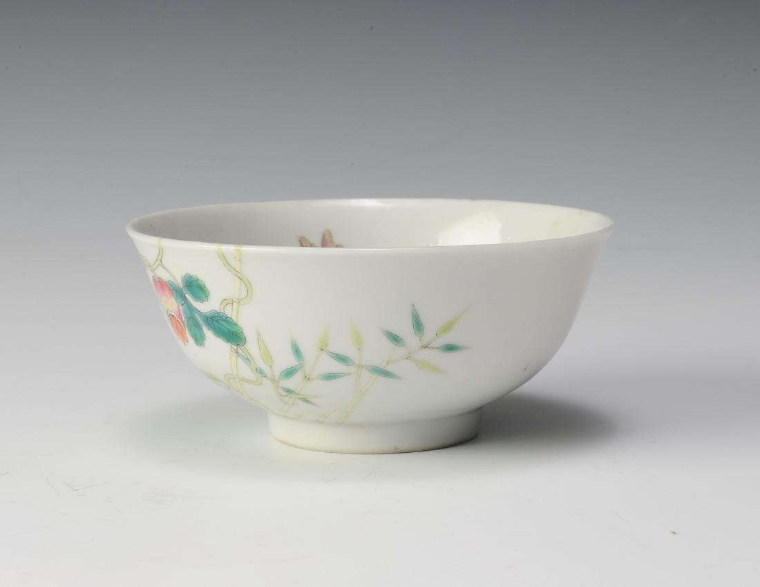 Famille Rose Bowl, Hong Xian Mark, Republic Period - 4
