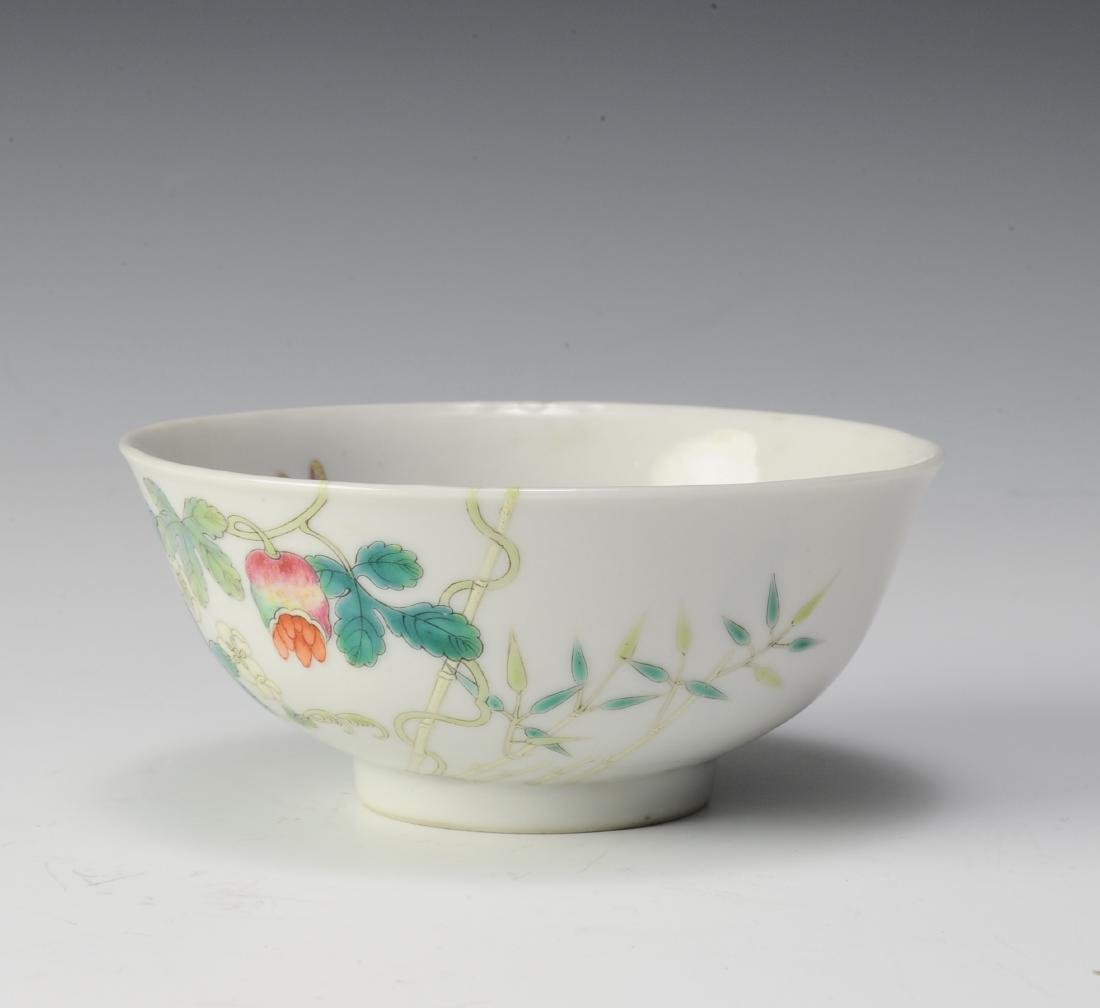 Famille Rose Bowl, Hong Xian Mark, Republic Period - 5