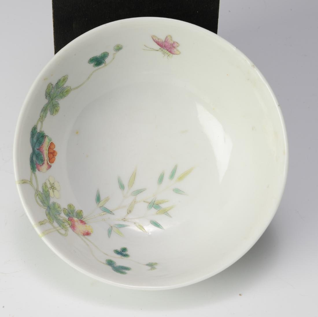 Famille Rose Bowl, Hong Xian Mark, Republic Period - 6
