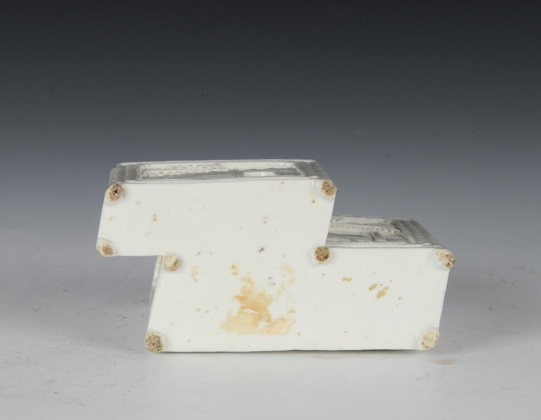White Glaze Brush Holder, Late 19th Century - 6