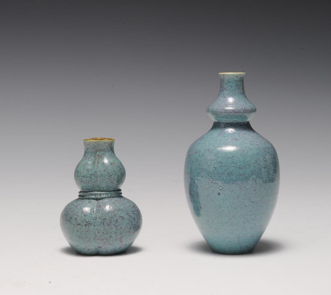 Two Robin's Egg Blue Vases, 19th - 20th Century - 3