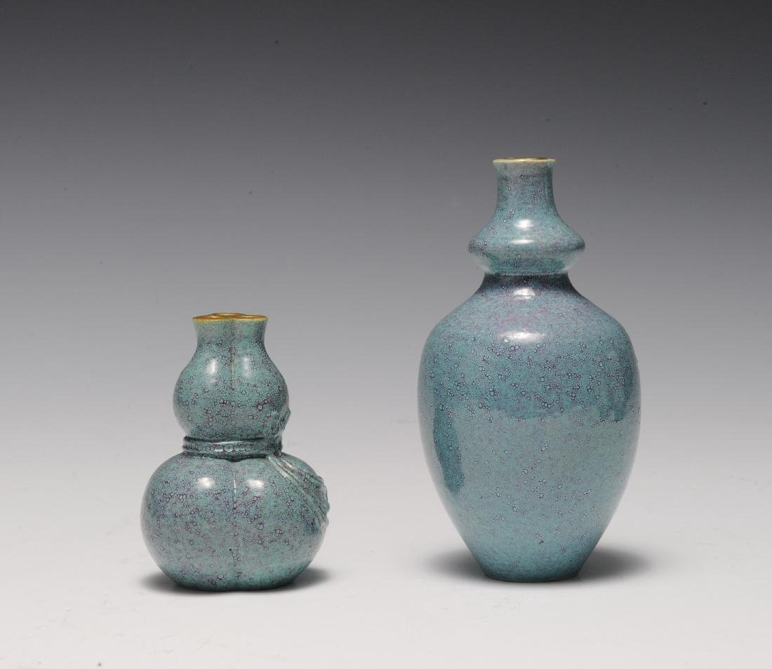 Two Robin's Egg Blue Vases, 19th - 20th Century - 4