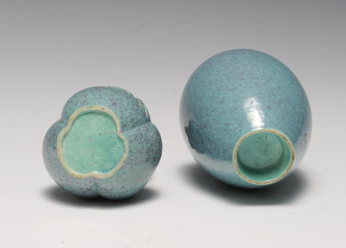 Two Robin's Egg Blue Vases, 19th - 20th Century - 6