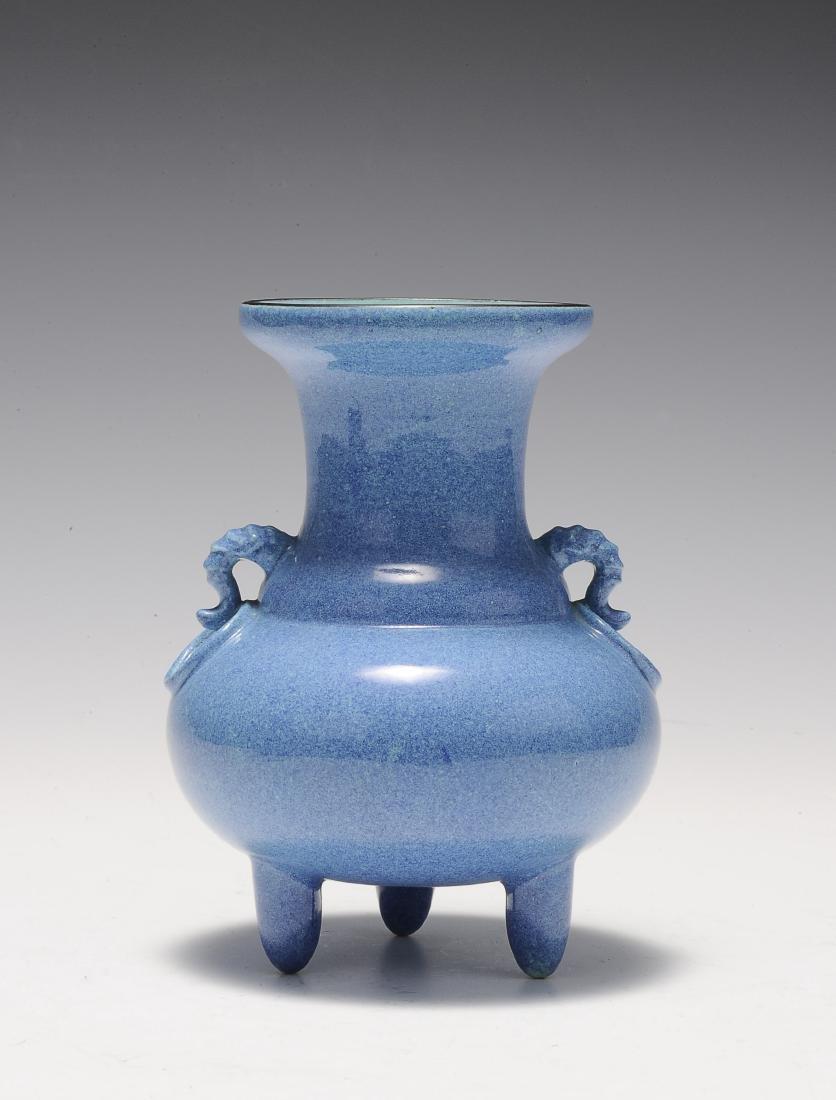 Robin's Egg Porcelain Incense Burner, 19th Century