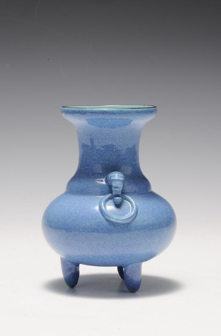 Robin's Egg Porcelain Incense Burner, 19th Century - 2