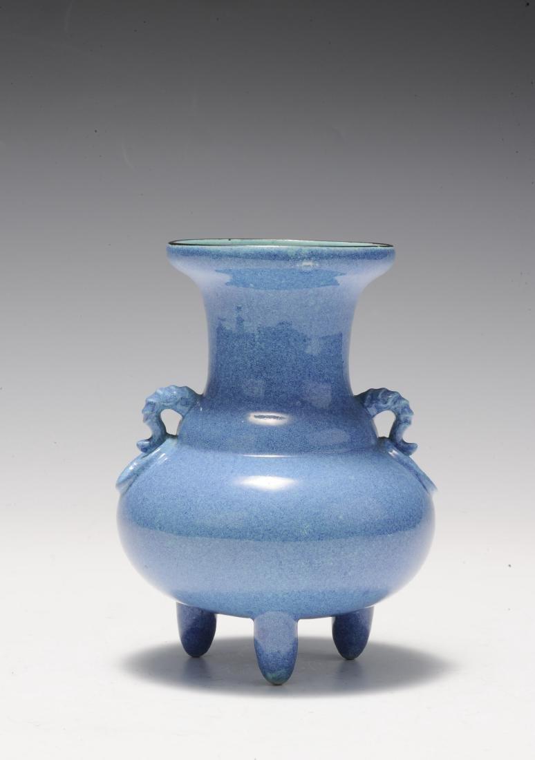 Robin's Egg Porcelain Incense Burner, 19th Century - 3