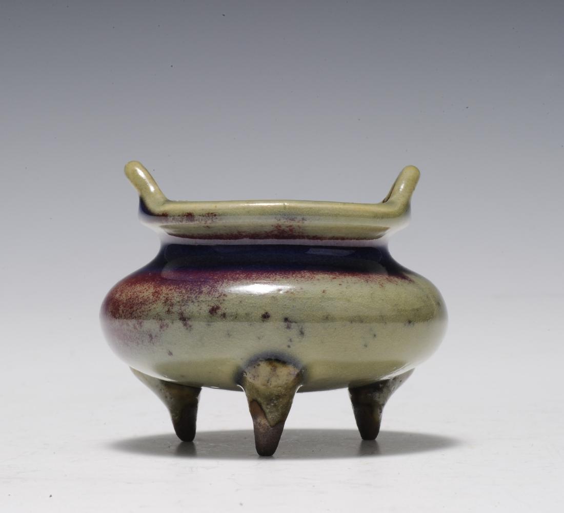 Small Jun Glaze Censer, 18th - 19th Century - 3