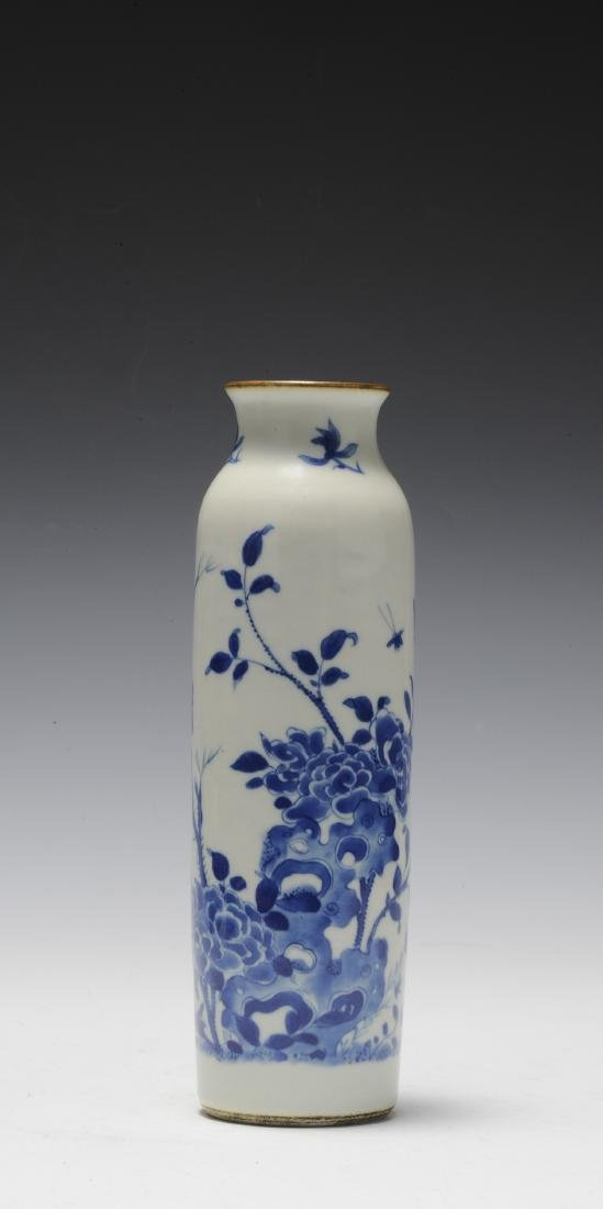 Tall Blue & White Vase, 17th Century - 2