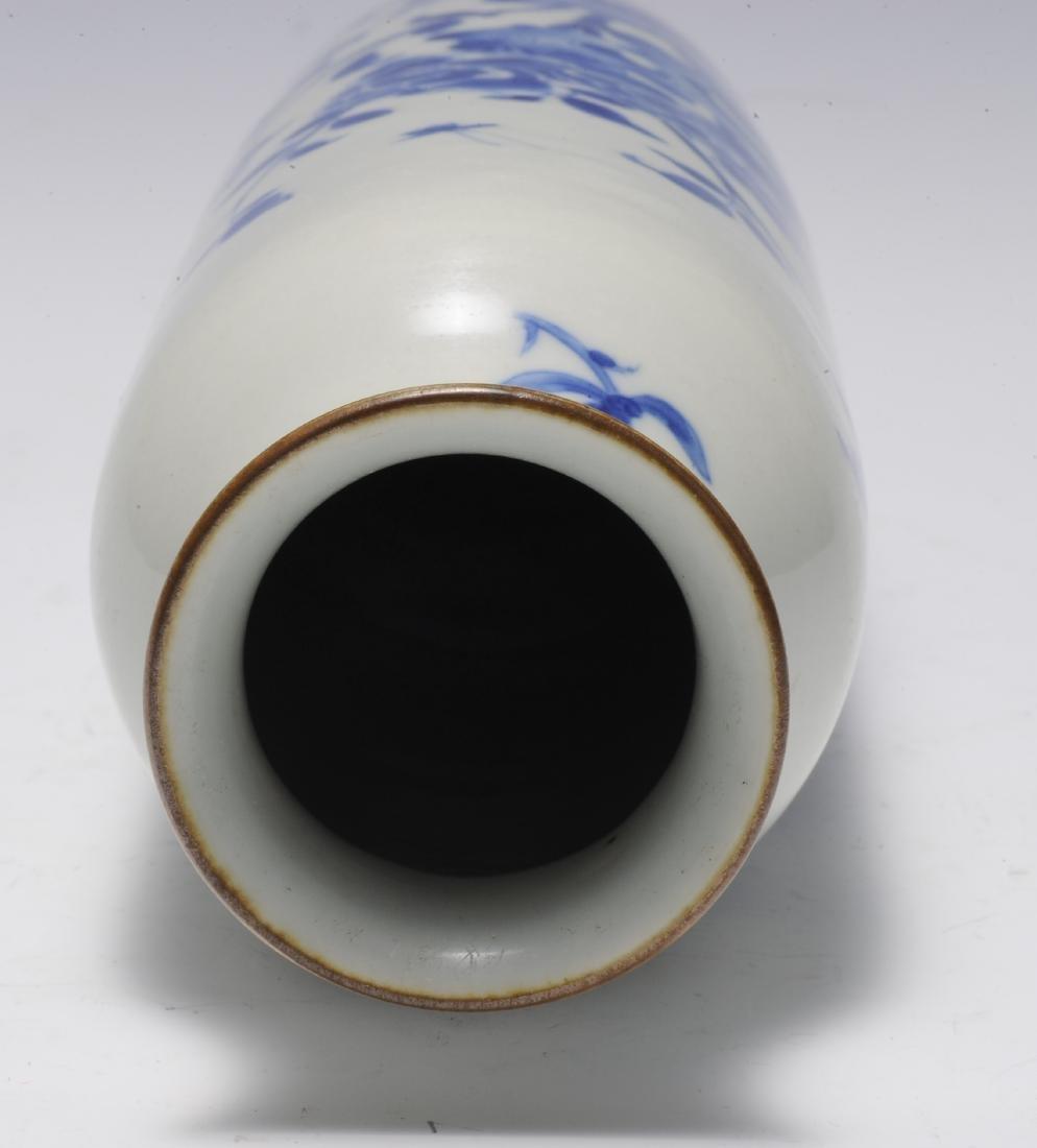 Tall Blue & White Vase, 17th Century - 5
