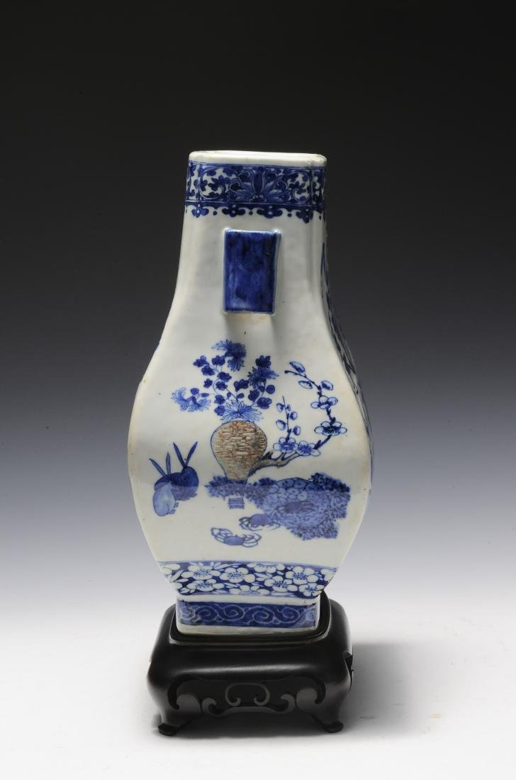 Blue & Red Underglaze Vase, Late Qing Dynasty - 2