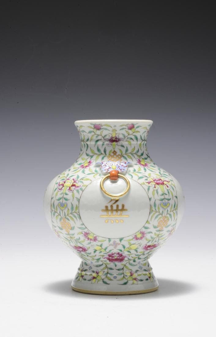 Famille Rose Vase, Early 20th Century - 2
