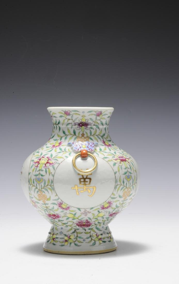 Famille Rose Vase, Early 20th Century - 4